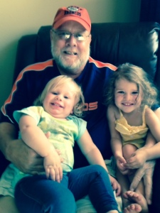 Papa with his girls: RoRo and ReRe