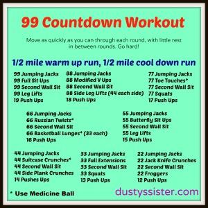 99 Countdown Workout