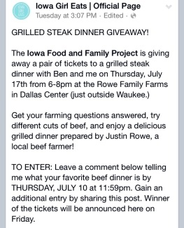 IGE Steak Giveaway