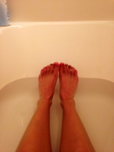 Gnarly toes and freezing cold water!