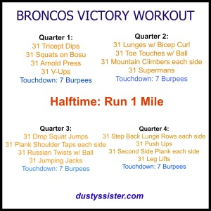 Broncos Victory Workout
